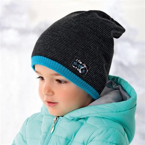.AJS шапка 36-377 шапка подкл.флис (р.52-54) - фото 11863