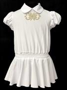 AGATKA блузка кор.рук. туника белая (р.128-158)