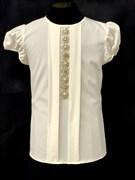 AGATKA блузка кор.рук. браслет, кремовая (р.134-164)