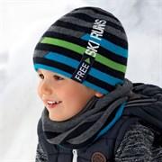 .AJS комплект 36-406/R шапка подкл.флис+снуд (р.52-54)