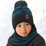 .AJS комплект 36-430 шапка подкл.флис+снуд (р.52-54)