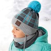 .AJS комплект 36-371 шапка подкл.хлопок+снуд (р.50-52)