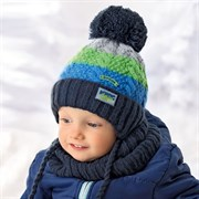 .AJS комплект 36-339 шапка подкл.флис+снуд (р.48-50)