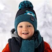 .AJS комплект 36-342 шапка подкл.хлопок+шарф (р.46-48)