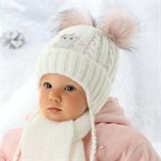 .AJS комплект 36-300 шапка подкл.флис+шарф (р.44-46)