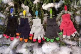 margot перчатки DARKNESS одинарная вязка (размер 16)