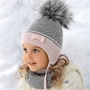 .AJS комплект 36-352 шапка подкл.флис+снуд (р.50-52)