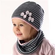 .AJS комплект 36-029 шапка один.вязка + снуд (р.46-48)