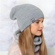 .AJS комплект 36-460 шапка двухсторонняя+снуд (р.52-54)