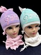 achti комплект шапка подклад флис + шарф (р.48-50) ноты