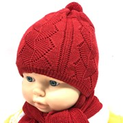 AGBO к-т  шапка двойная вязка+шарф  (р.42-44)