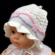 ambra шапка-панама ажурная вязка (р.46-48)
