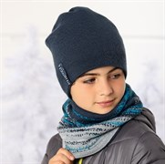.AJS комплект 36-442 шапка двойная вязка + снуд (р.54-56)