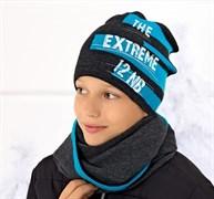 .AJS комплект 36-490 шапка подкл.флис+снуд (р.52-54)