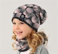 .AJS комплект 38-107 шапка одинарная + снуд (р.52-54)