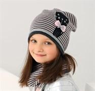 .AJS комплект 38-063 шапка одинарная + снуд (р.50-52)