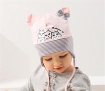.AJS шапка 38-022 одинарн.трикотаж (р.44-46)