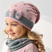 .AJS комплект 38-130 шапка одинарная + снуд (р.52-54)