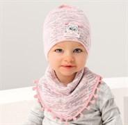 .AJS комплект 38-033 шапка одинарная + манишка (р.44-48)