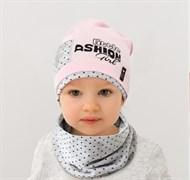 .AJS комплект 38-030 шапка одинарн.трикотаж + снуд (р.48-50)