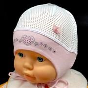 "Marika шапка ML-1092 ""Kwiatki Brokatki"" одинарный трикотаж (р.36,38,42)"