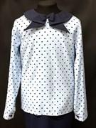 AGATKA блузка дл.рук. ворот-стрелка голубая (р.128-158)