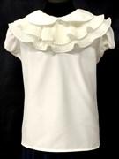 AGATKA блузка кор.рук. съёмный ворот, кремовая (р.128-158) 6 шт.