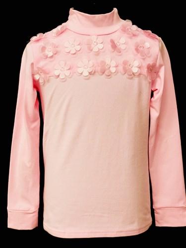 блузка ЛЮТИК модель 10106 длинный рукав, трикотажная, розовая (р.122,128,134,140,146) - фото 10107