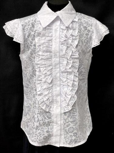 блузка ЛЮТИК модель 20143 рукава-крылышки узоры (р.128,134,140,146,152,156,164) - фото 10135