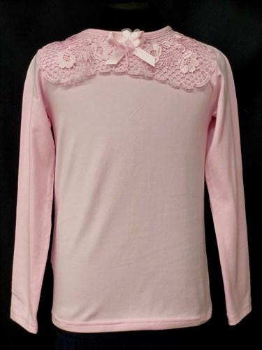 блузка ЛЮТИК модель 10105 трикотажная, розовая (р.122,128,134,140,146) - фото 10208