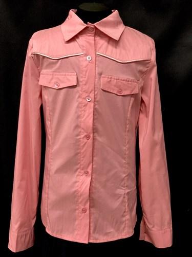 блузка ЛЮТИК модель 20149 длинный рукав, розовая (рост146,152,158,164,170) - фото 10222