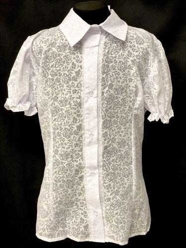 блузка ЛЮТИК модель 20131 подросток кор.рукав-фонарик (размер36,38,40,42,44) - фото 10229