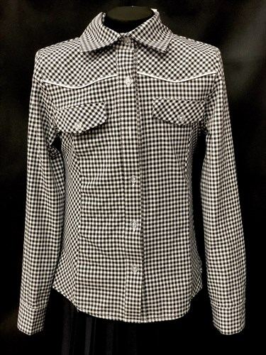 блузка ЛЮТИК модель 20149 клетка длин.рук. детская (рост128,134,140,146,152) - фото 10230
