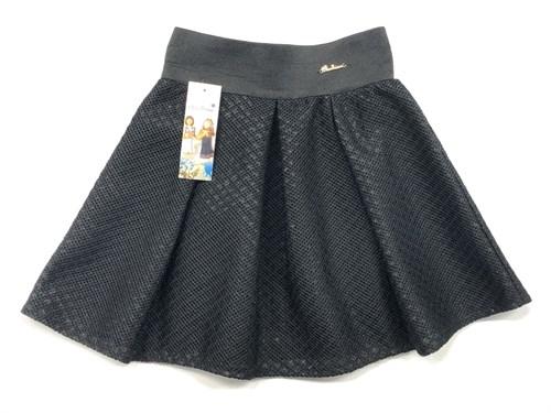 """юбка Balbina модель """"сеточка"""" черная (р.128-158) - фото 10374"""