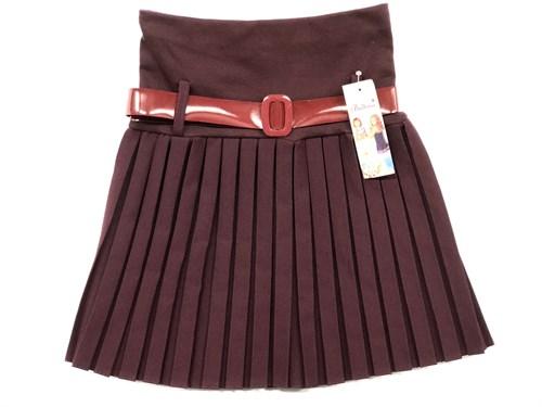 юбка Balbina модель плиссе, бордовая (р.128-158) - фото 10378