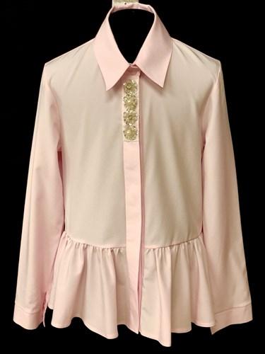 AGATKA блузка длинный рукав туника розовая (р.140-164) - фото 10553