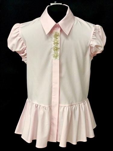 AGATKA блузка кор.рук. туника розовая (р.140-164) - фото 10565