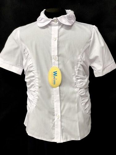 блузка Winigra кор.рукав, белая (рост122-158) - фото 10694