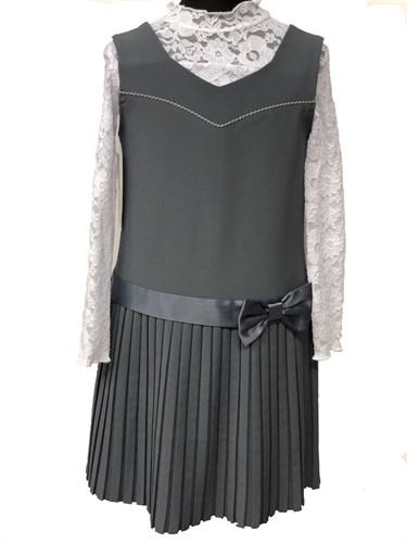 сарафан EVEline модель Princessa 15 серый (р.128-146) - фото 10709