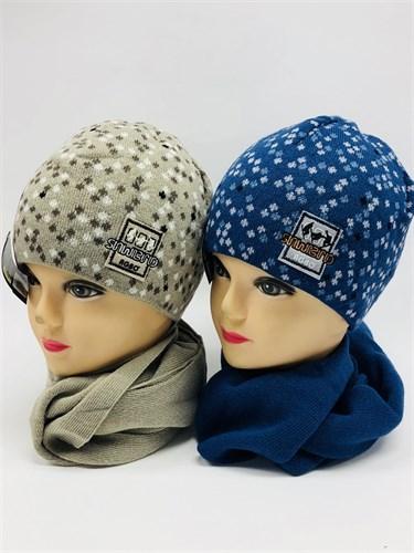 AGBO комплект Kpl4 шапка двойная вязка+шарф (р.52-54) - фото 11326