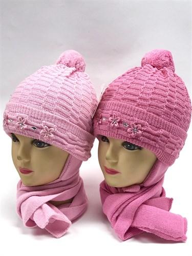 amal комплект, шапка двойная вязка+шарф (р.48-50) - фото 11337