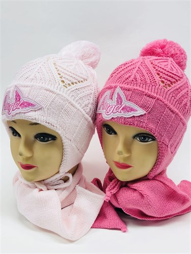 TOMAR комплект шапка одинарная вязка+шарф (р.48-50) - фото 11349