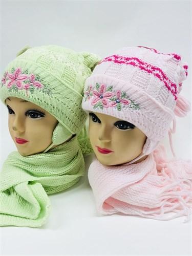 Politano комплект шапка двойная вязка+шарф (р.44-46) - фото 11355