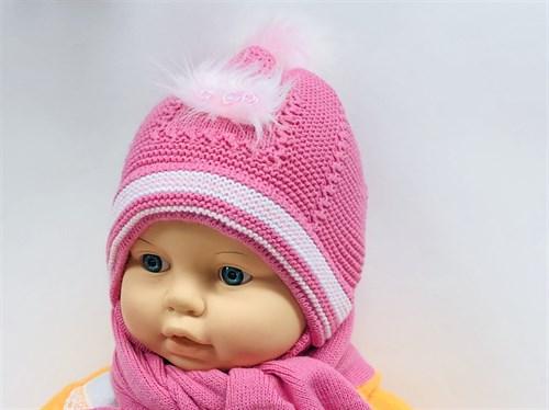 Acer комплект шапка одинарная вязка+шарф (р.42-44) - фото 11357