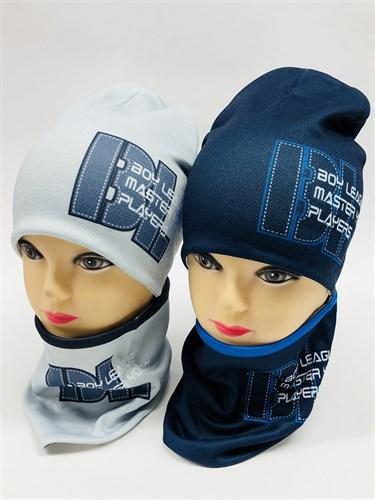 ambra комплект шапка дв.трикотаж + снуд (р.50-52) - фото 11496