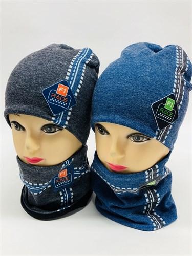 Milli комплект шапка двойной трикотаж + снуд (р.50-54) - фото 11582