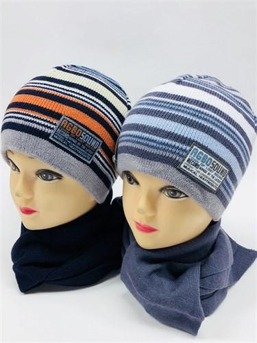 AGBO комплект kpl5 шапка двойная вязка+шарф (р.54-56) - фото 11600