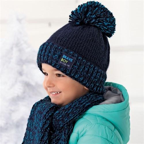 .AJS комплект 36-349 шапка подкл.флис+шарф (р.50-52) - фото 11912
