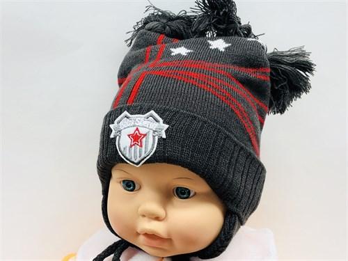 Politano шапка три кисточки, двойн.вязк. (р.44-46) - фото 12087