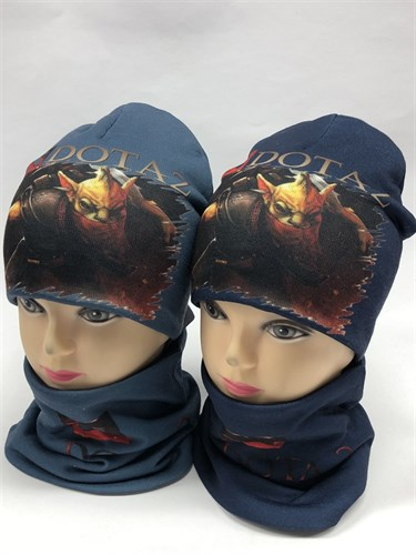 ambra комплект шапка трикотажная с утеплителем + снуд (р.52-54) - dota2 - фото 12162